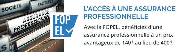 assurance professionnelle à 170 € au lieu de 400 €